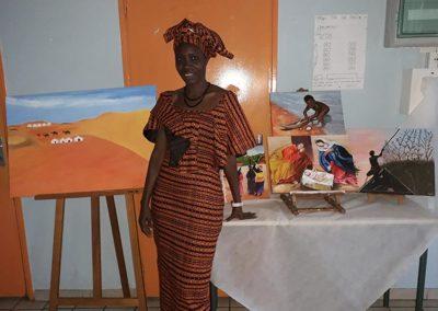 Exposition-d'une-artiste-peintre-senegalaise