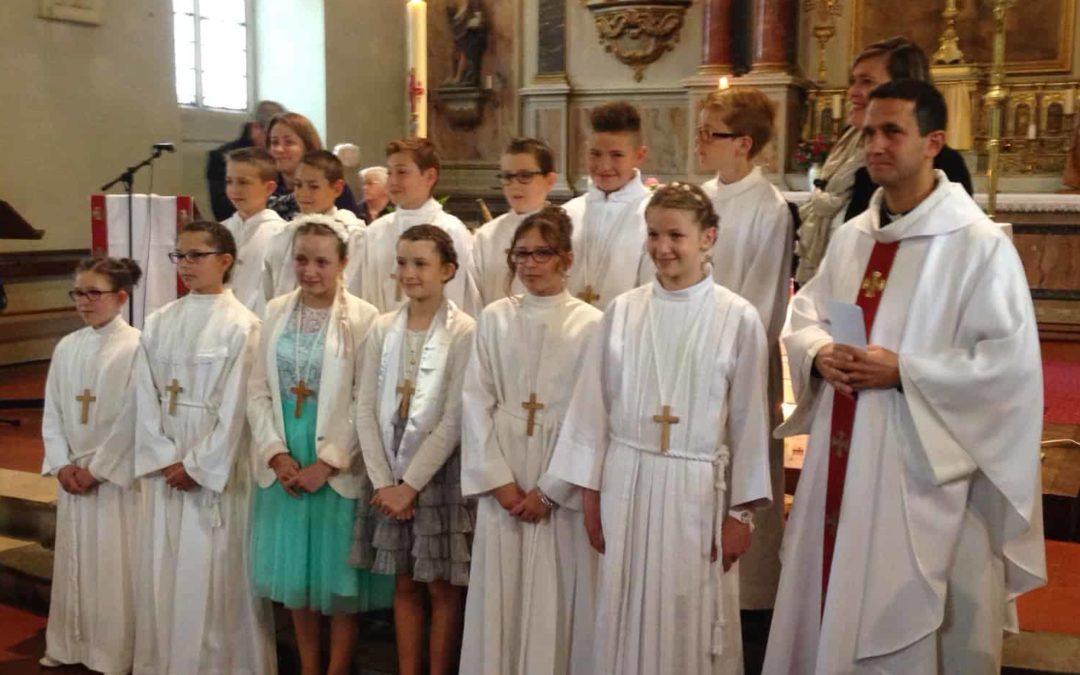 Avancer vers la première des communions