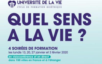 Université de la vie : 4 soirées de formation Alliance VITA