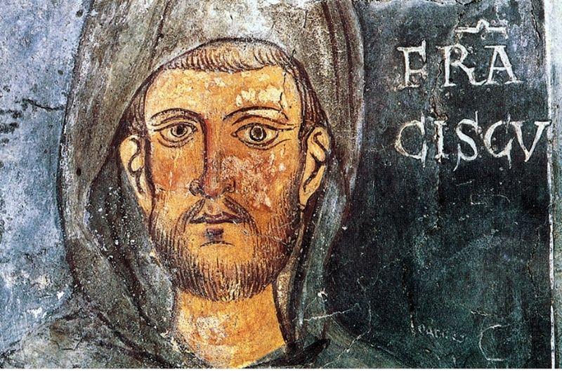 fresque de la Chapelle Saint-Grégoire de Sacro Speco. Abbaye de Subiaco