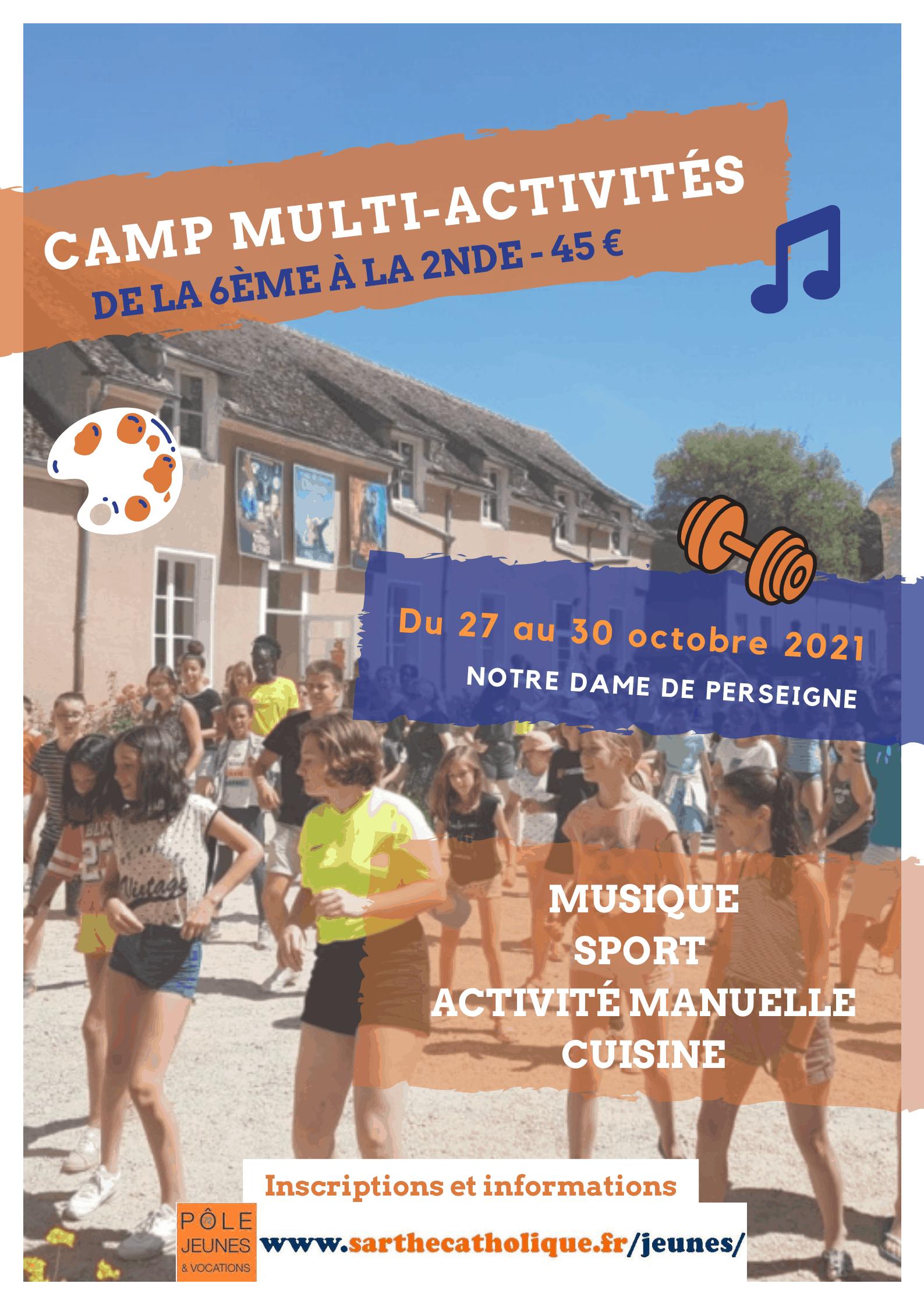Affiche camp multi-activités