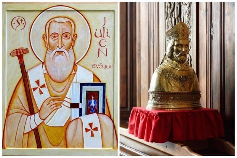 Icône et buste de Saint-Julien