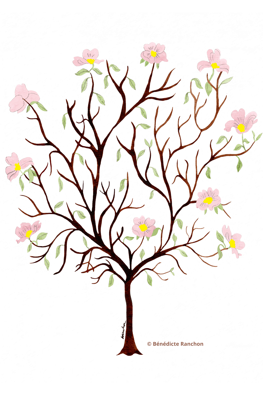 arbre vierge avec des branches