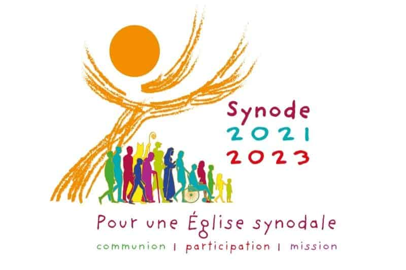 Logo Synode 2021 2023 Pour une Eglise synodale : communion, participation et mission